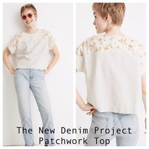 Madewell New Denim Project Patchwork Top NWT